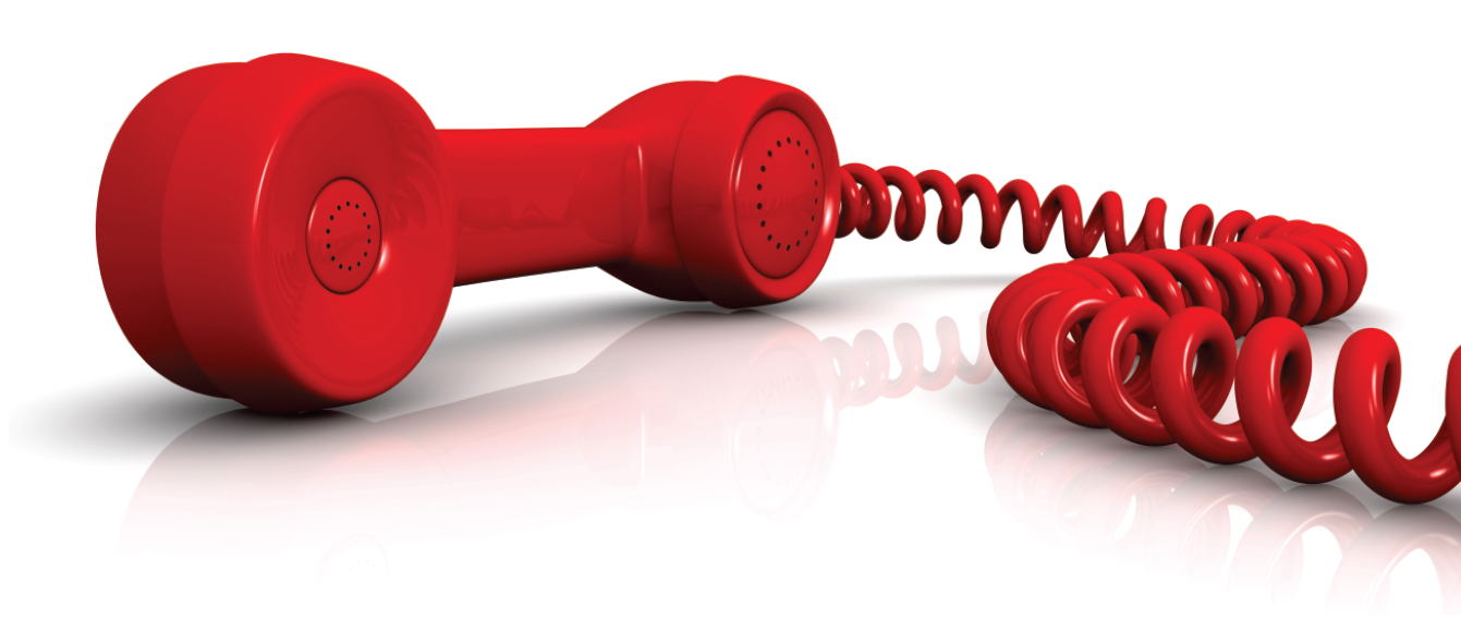 Red telephone for contact us
